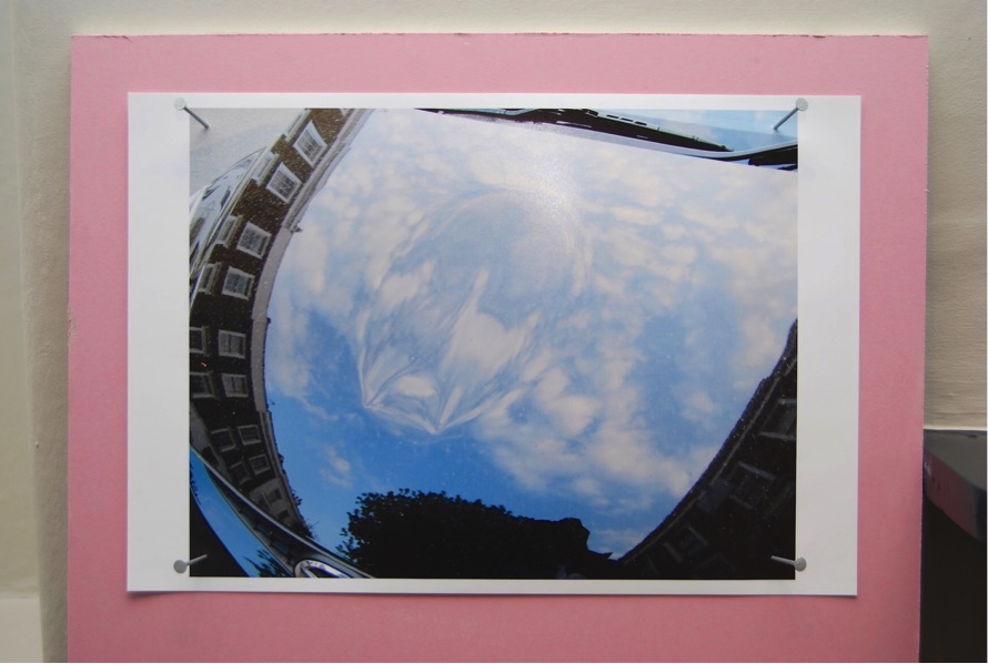 Richard Wentworth - Barnsbury ,(detail),2011, C-print, plasterboard, nails