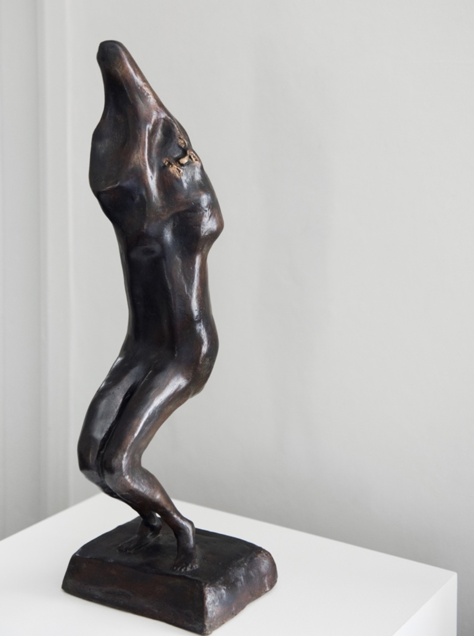 Enrico David -   Untitled , 2016, Bronze 47.5 x 16 x 15.5 cm