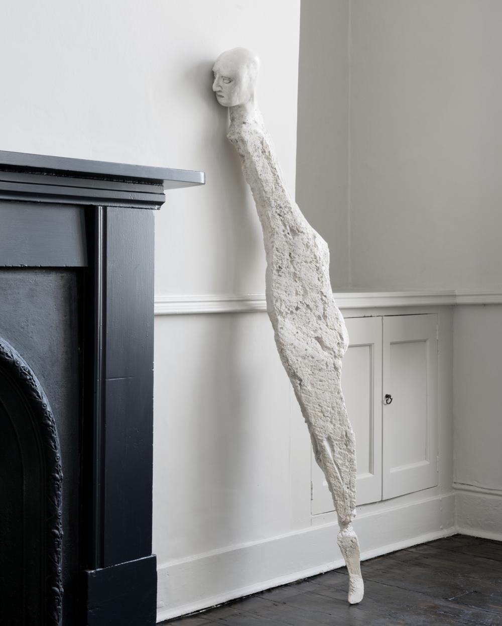Enrico David Untitled, 2015 Jesmonite, steel and graphite 158 x 27 x 15 cm