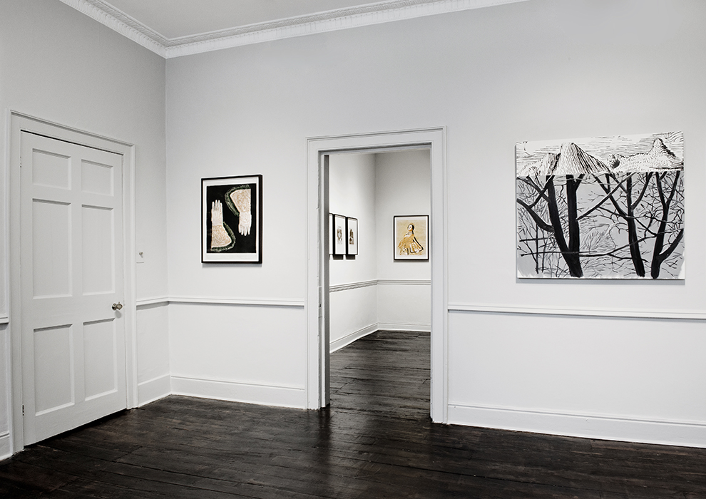 Installation view - Mamma Andersson, Dexter Dalwood, in far room John Stezaker, Mamma Andersson