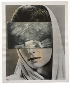 John Stezaker ,  Mask (Film Portrait Collage) CLXVI,  2014, Collage, 25.3 x 20.5 cm