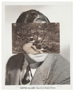 John Stezaker ,  Mask (Film Portrait Collage) CCXIX , 2017, Collage, 25.3 x 20.5 cm