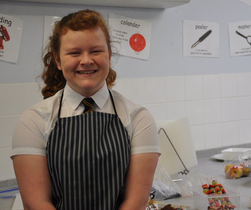 Pool Academy student   Emma who has reached the semi-finals of the Junior Class in the South West Chef of the Year competition.