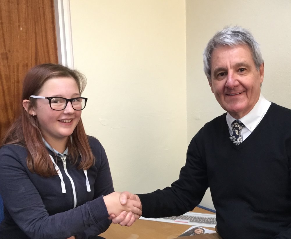 Student Viki with Councillor Desmonde