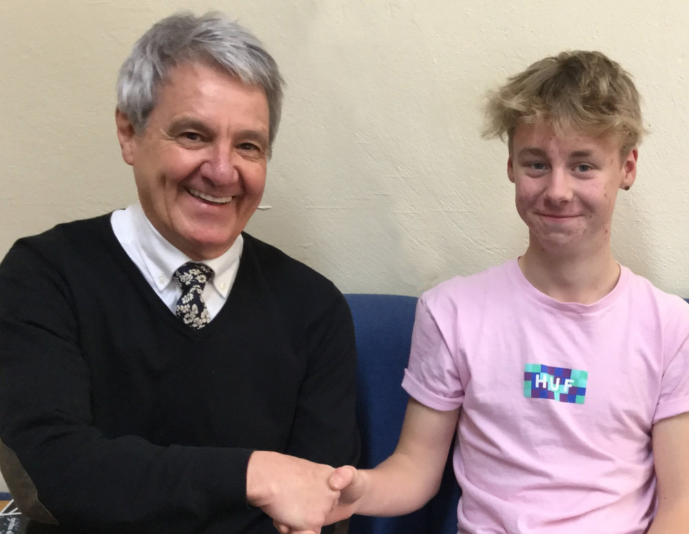 Student Olli with Councillor Desmonde