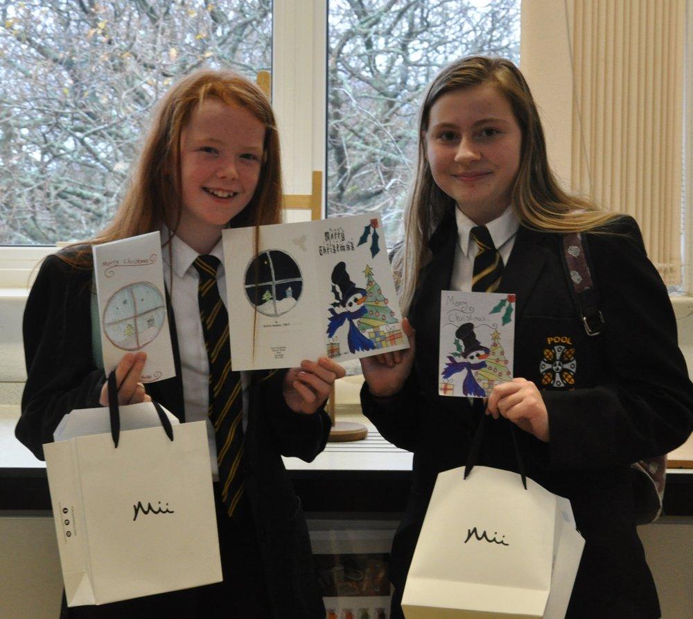 Winners Kaitlin Hawken 7WCP and Alycia Britten 8AJJ.