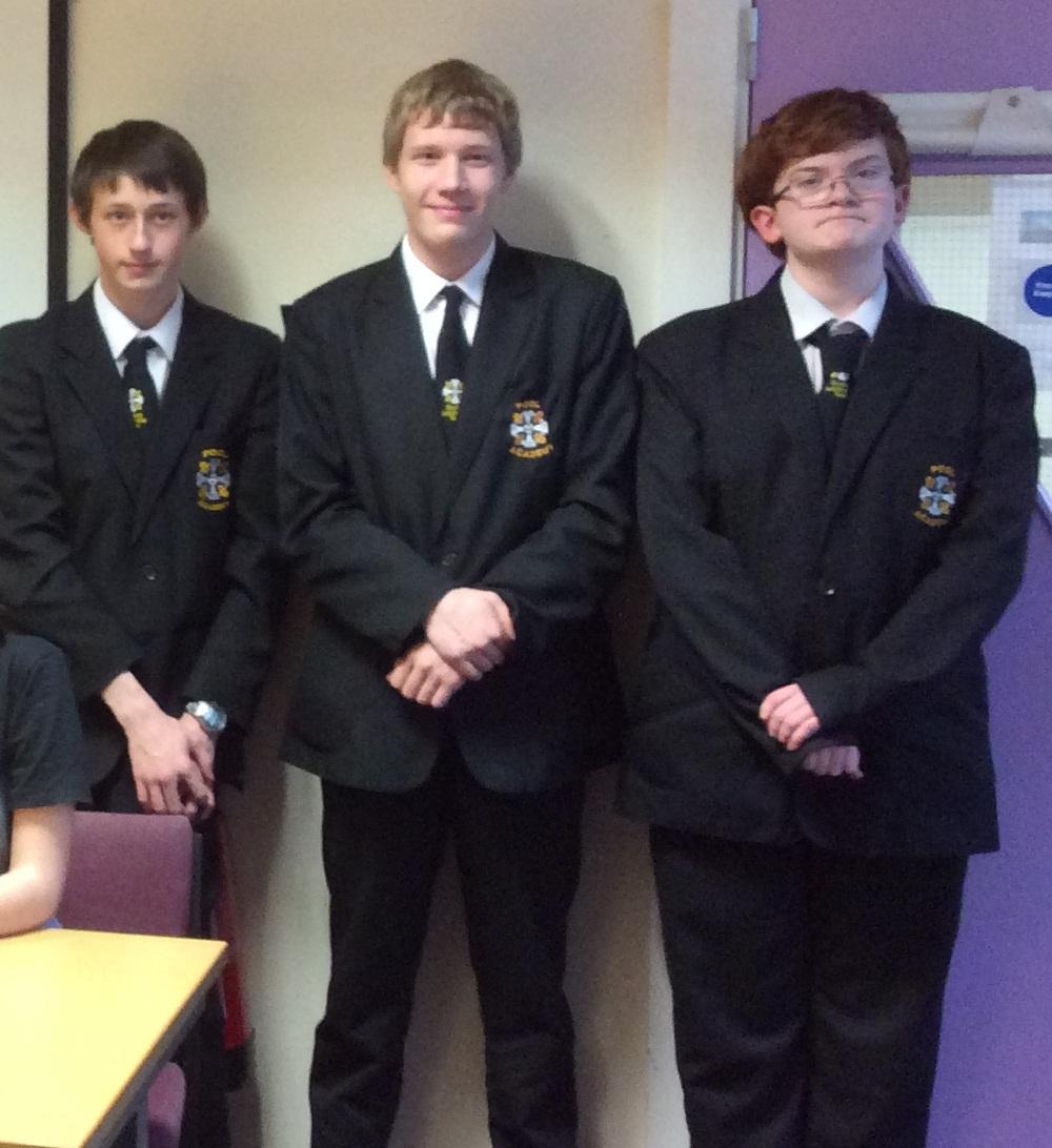 Members of Pool Academy debate team