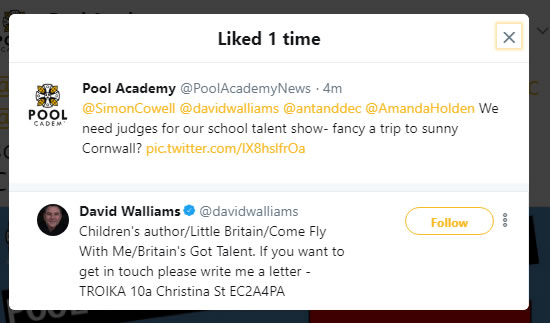 Here's what Pool Academy Tweeted.