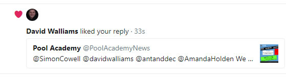 David Walliams liked the Tweet.