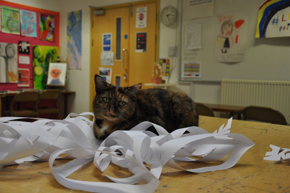 Pebbles in the art room