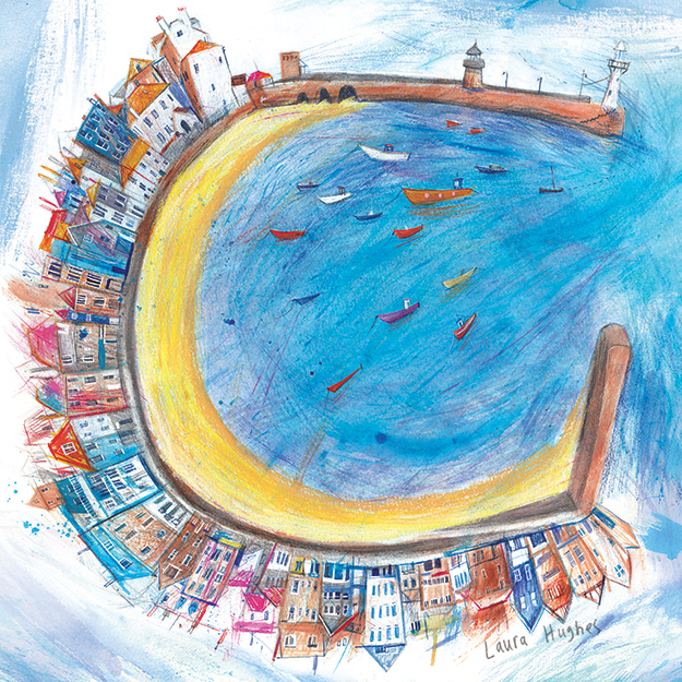 St Ives Harbour. For The Whistlefish Gallery