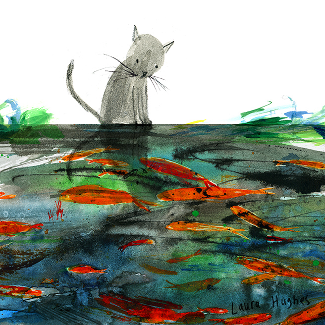 Laura Hughes cat and fish pond.jpg