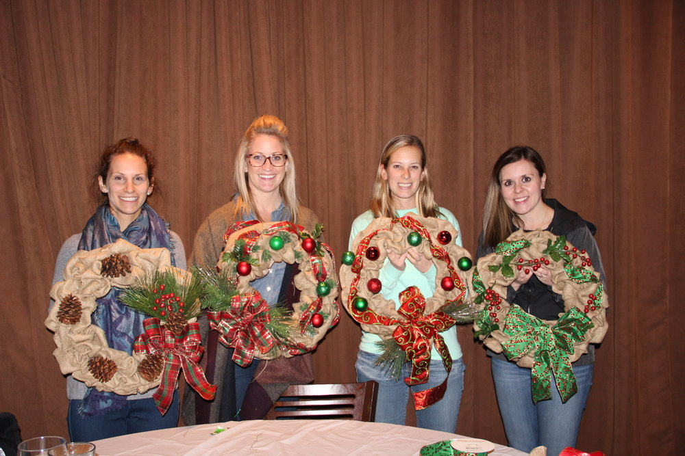 Burlap Wreath Workshop 11/22/16