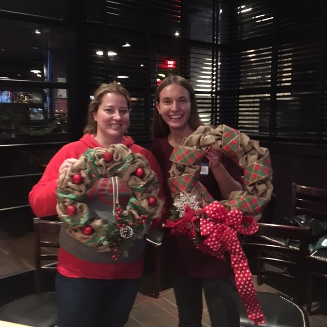 Burlap Wreath Workshop 11/29/16