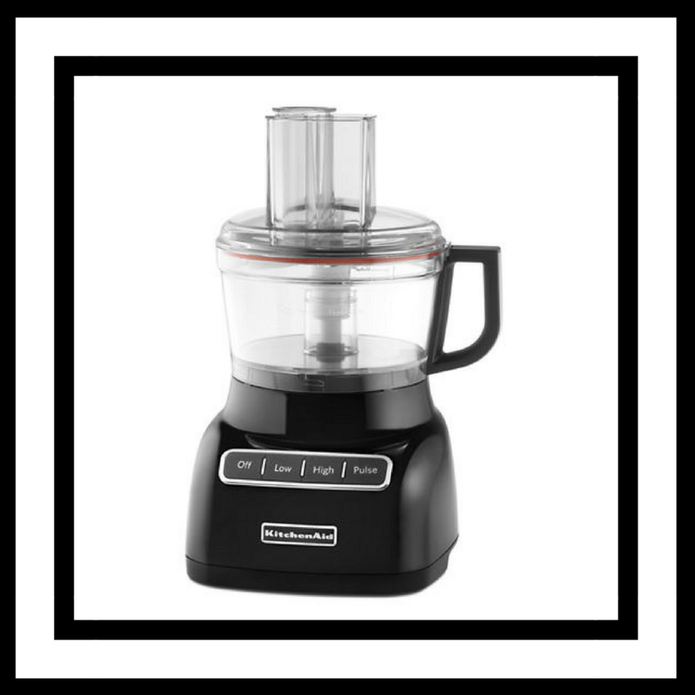 Food Processor - So many recipes these days ask for you to chop but who really has time for that!? Thank you Food Processor for coming to the rescue on so many occasions. One of our favourites is the 7-Cup Food Processor from KitchenAid.