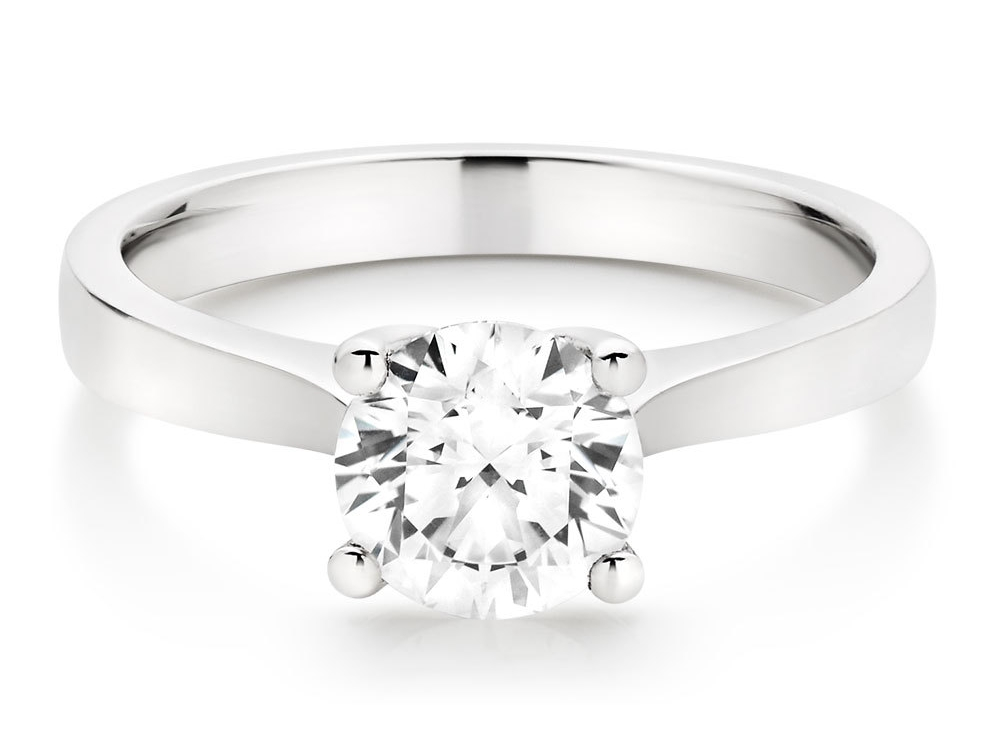 A classic and timeless beauty, instantly fall in love with our Once by Beaverbrooks Platinum Diamond Solitaire Ring.