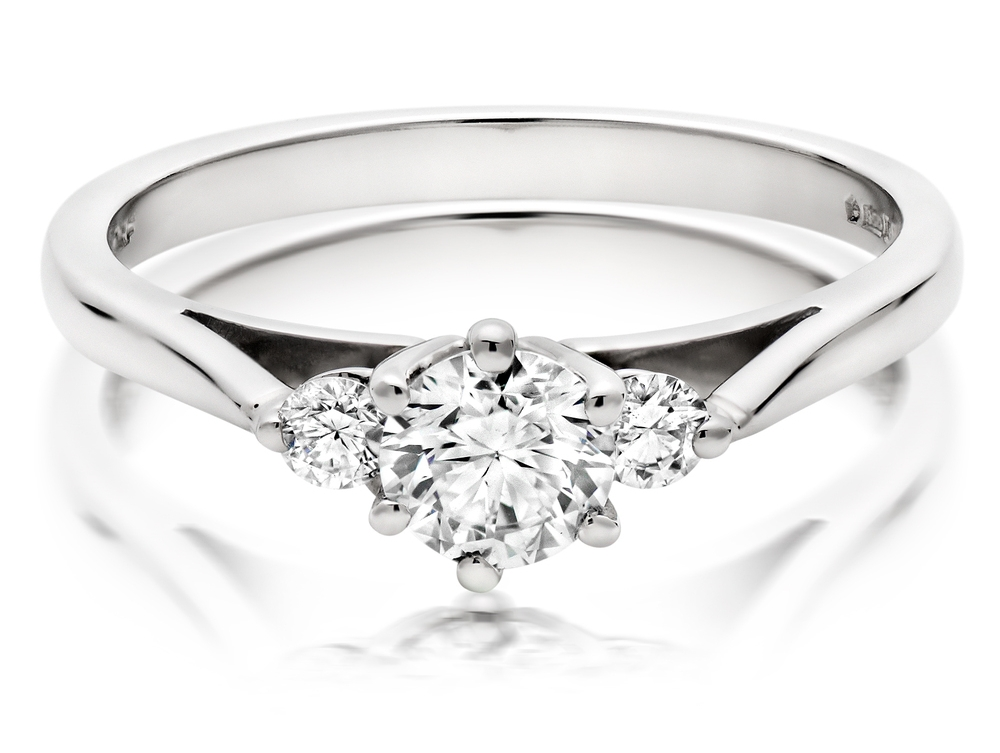 Our  Platinum Diamond Three Stone Ring , showcasing some serious sparkle.