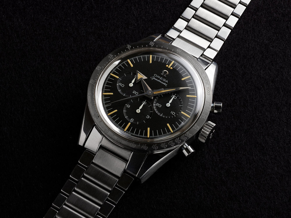 "The first Speedmaster, nicknamed the ""Broad Arrow""."