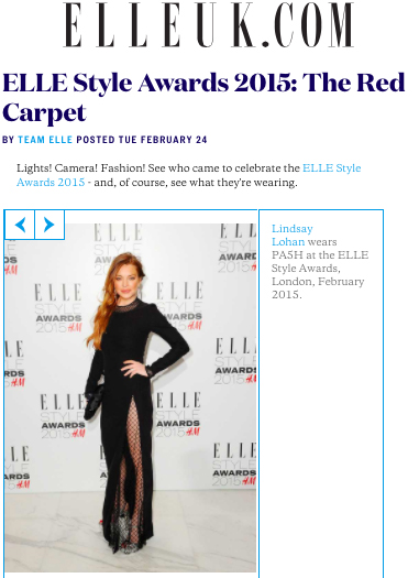 ELLE.CO.UK Elle Style Awards 2015: The Red Carpet