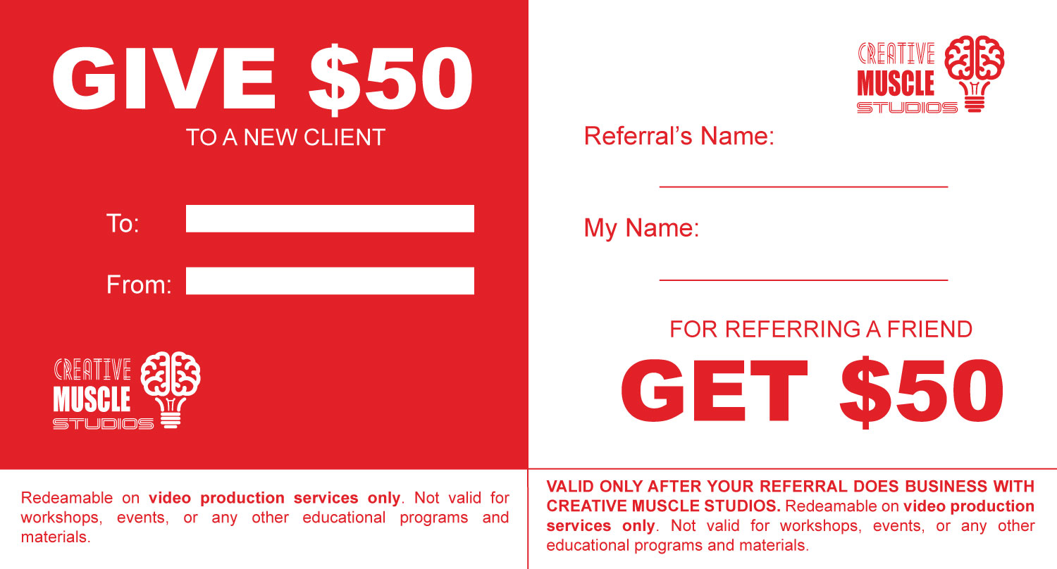 We Want to Reward You for Referrals