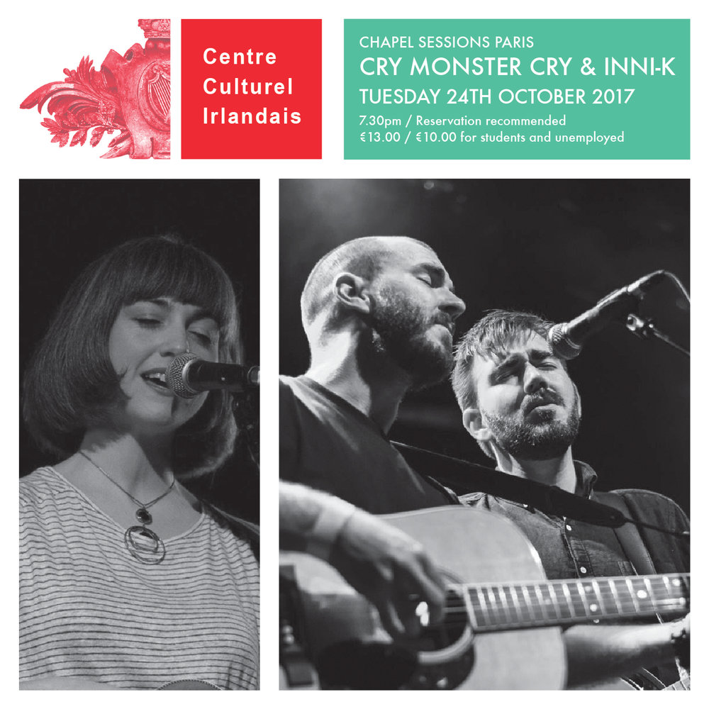 Cry Monster Cry & Inni-K live at the CCI in Paris - The double headline show will take place in the historic chapel on site