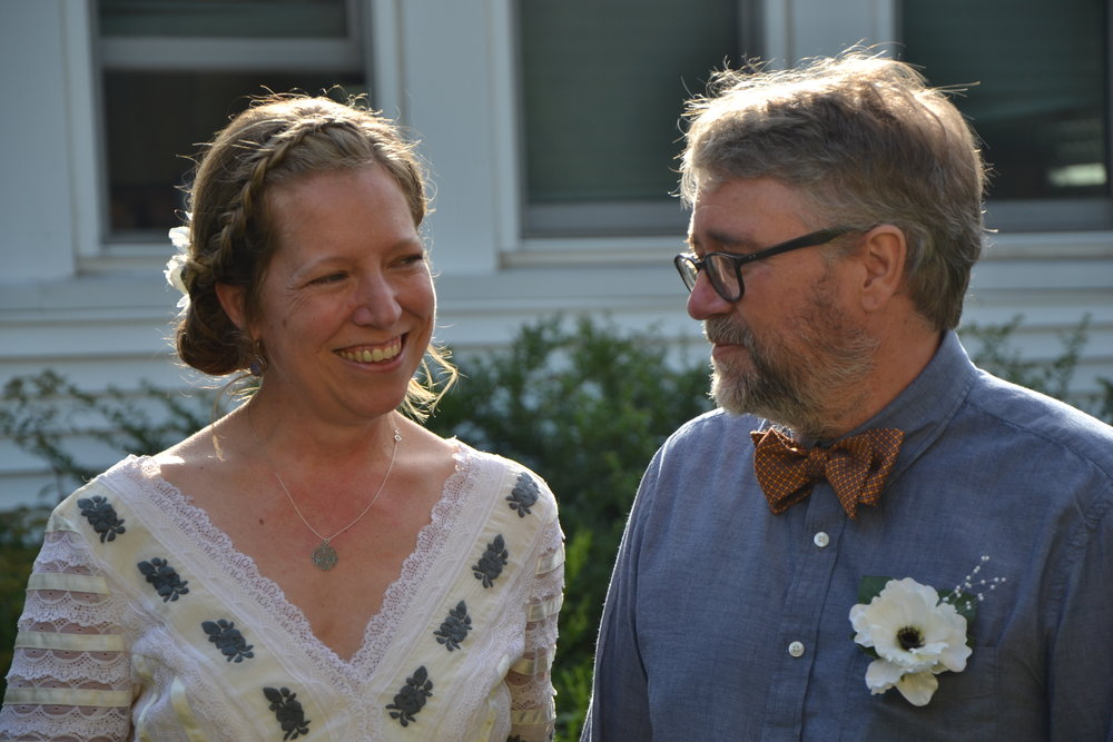 James and I at our wedding in August, 2014.