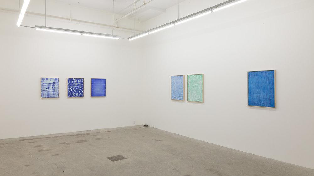 Pierre Julien, Blueprint, 2017, vue d'exposition