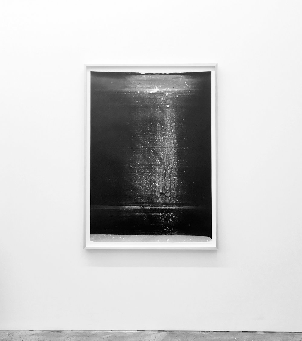 """Jim Verburg,  Untitled (from the series Metaphysical Obstacles and The Acceptance of the Inevitable),  2016 ,  peinture à base d'huile sur Mylar givré, 117 x 84 cm (46"""" x 33"""")"""