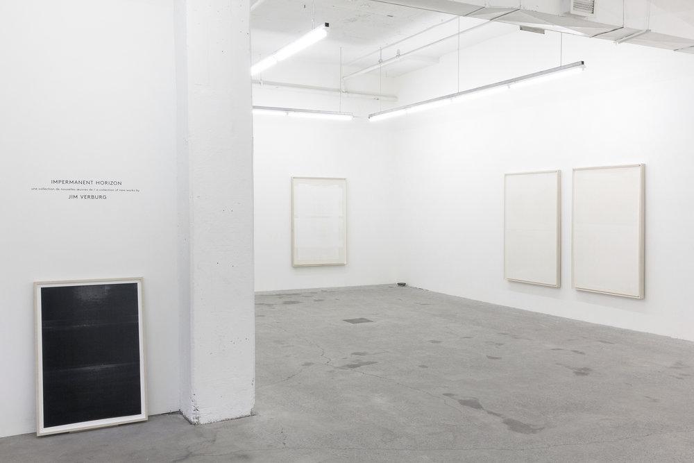 Jim Verburg,  Impermanent Horizon , vue d'exposition, 2016, Galerie Nicolas Robert