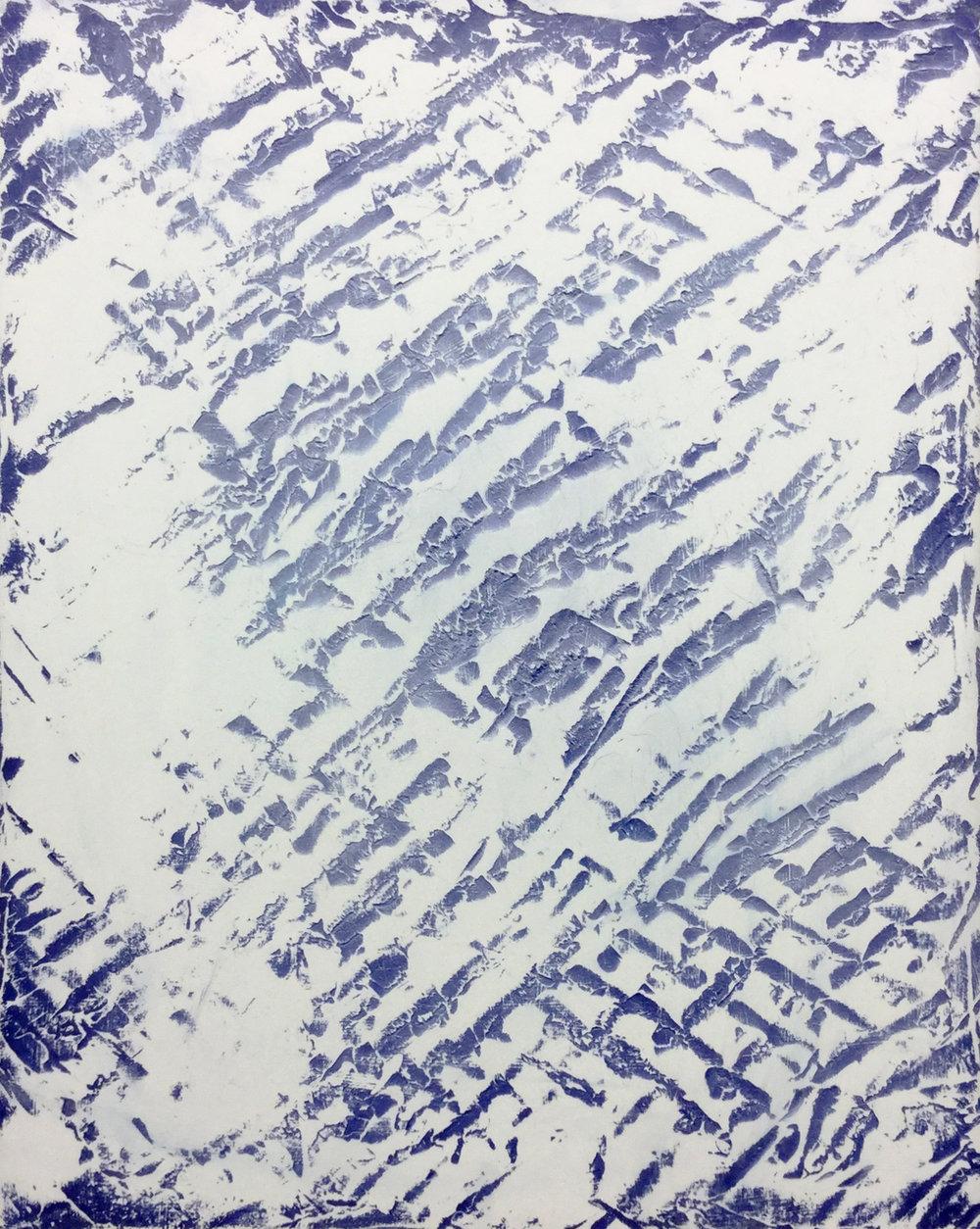 Offcut  2017  Plâtre, acrylique et peinture aérosol sur gypse  76 X 61 cm