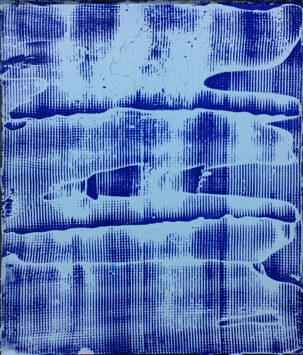 Blueprint B-2 , 2017, plâtre et peinture aérosol sur gypse, 61 x 51 cm