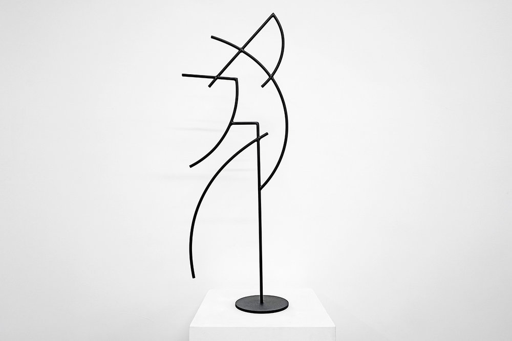 Jacob Whibley,  digger 2, 2017, acier peint, dimensions variables