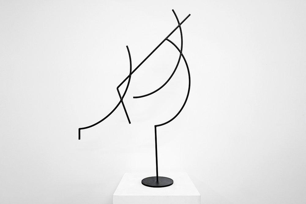Jacob Whibley,  digger 3 , 2017, acier peint, dimensions variables
