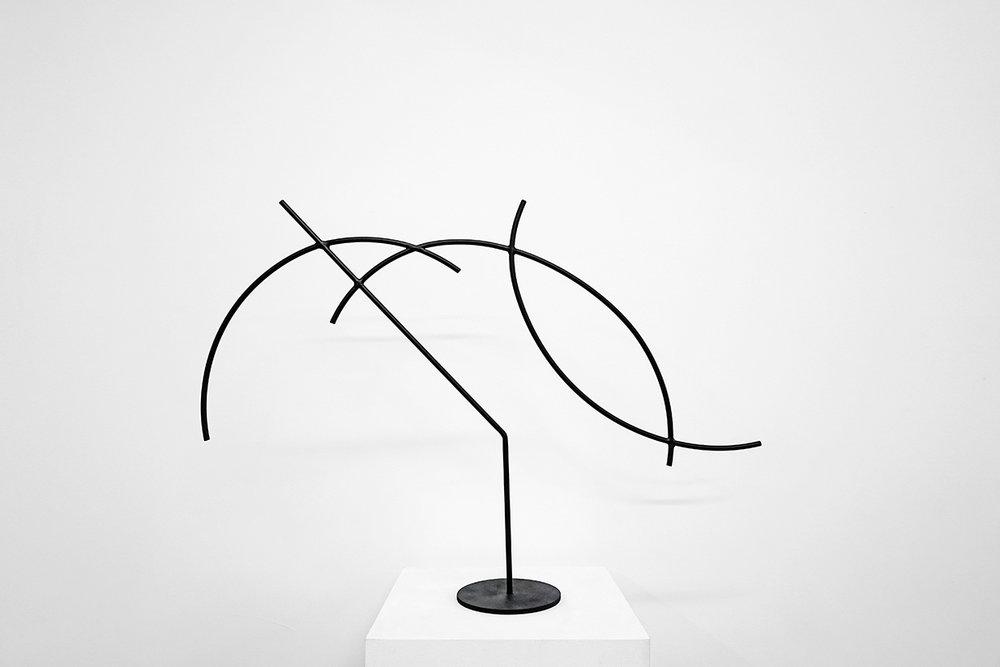 Jacob Whibley,  digger 4 , 2017, acier peint, dimensions variables