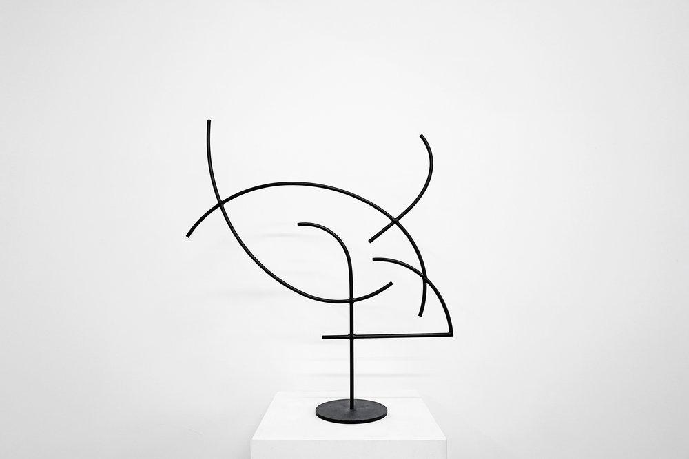 Jacob Whibley,  digger 6 , 2017, acier peint, dimensions variables
