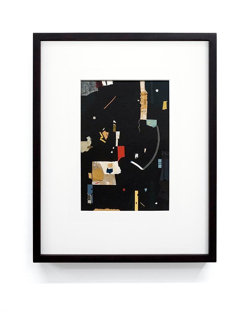 """Jacob Whibley, evi , 2017, papiers trouvés sur carton, 13 x 20 cm (5.5"""" x 8"""")"""