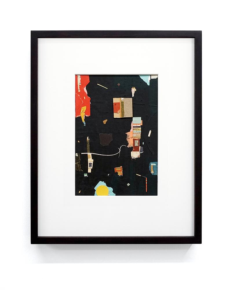"""Jacob Whibley, mpa , 2017, papiers trouvés sur carton, 13 x 20 cm (5.5"""" x 8"""")"""