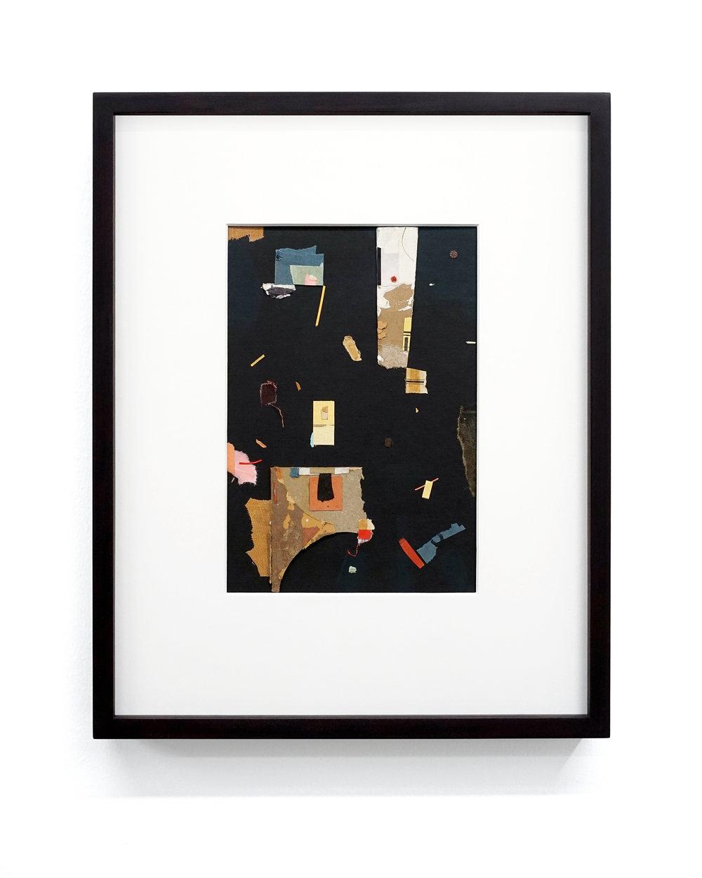 """Jacob Whibley, oio , 2017, papiers trouvés sur carton, 13 x 20 cm (5.5"""" x 8"""")"""