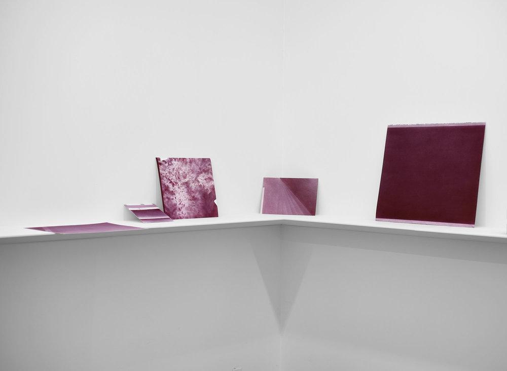Andréanne Godin, Poussière de crépuscule, ou devenir jour , 2017, vue d'exposition à la galerie Nicolas Robert.
