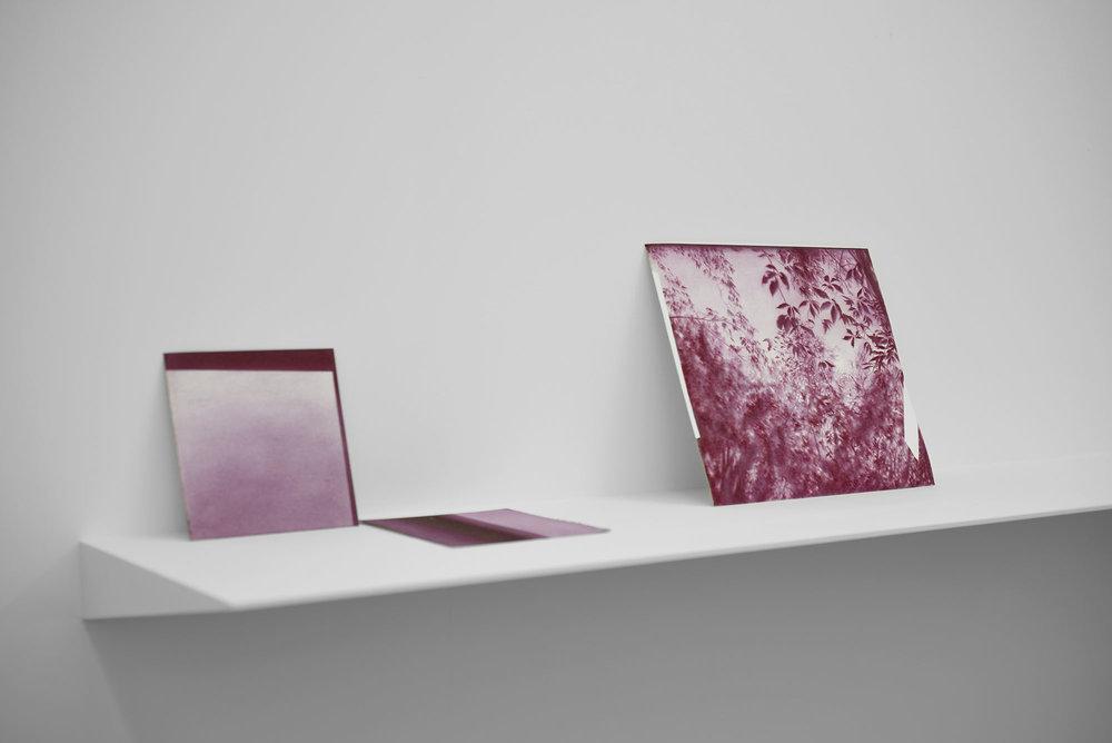 Andréanne Godin,  Poussière de crépuscule, ou devenir jour , 2017, vue d'exposition à la galerie Nicolas Robert
