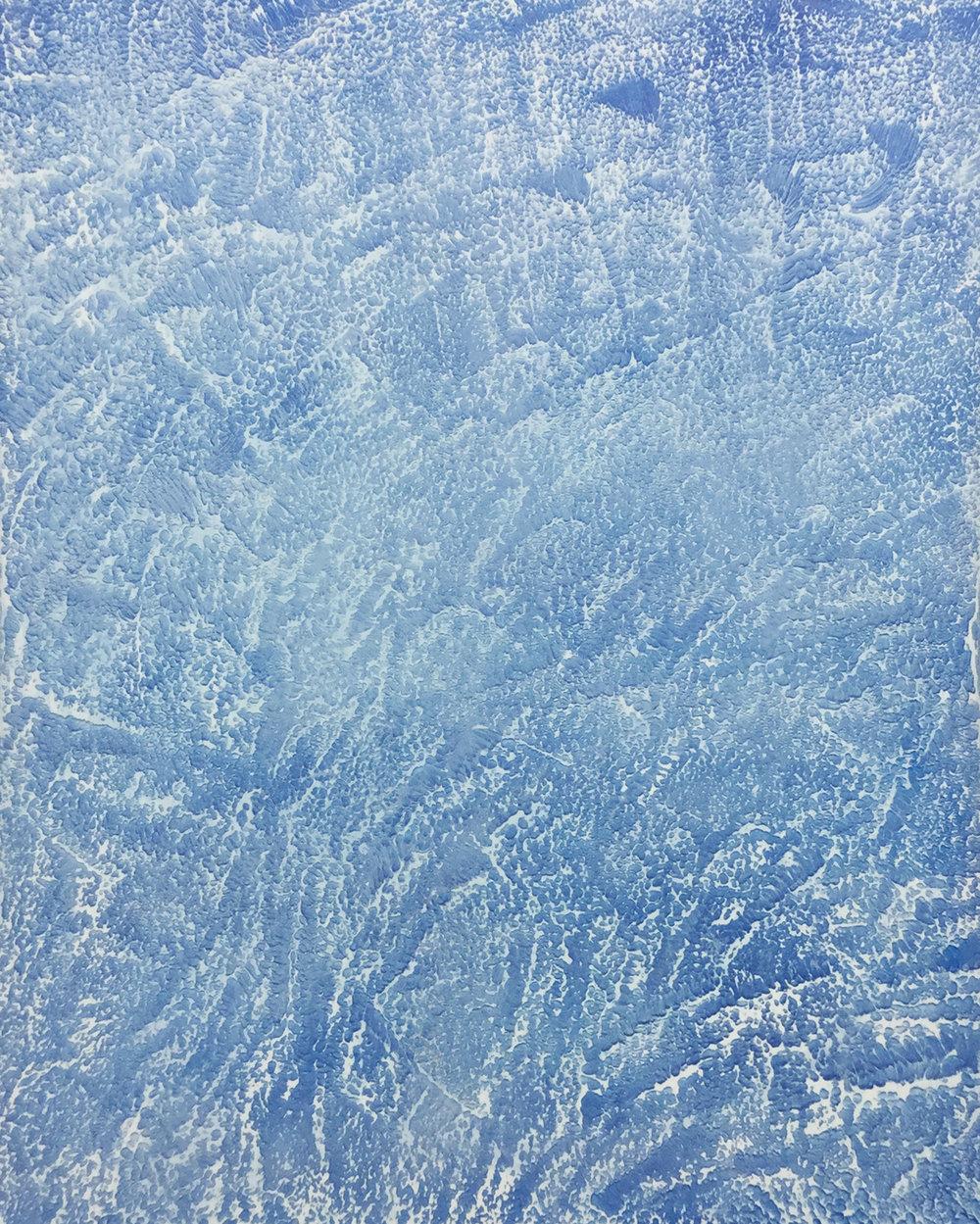 """Pierre Julien, Ronchamp 02 , 2017, plâtre, acrylique et peinture aérosol sur gypse,30"""" x 24"""" (76 x 61 cm)."""