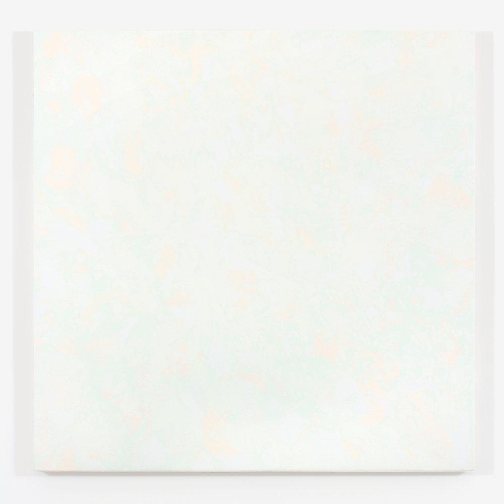 """Pierre Julien,  Gathering of the Clouds 1 , 2015, plâtre et acrylique sur panneau de bois,48"""" x 48"""" (122 x 122 cm)."""