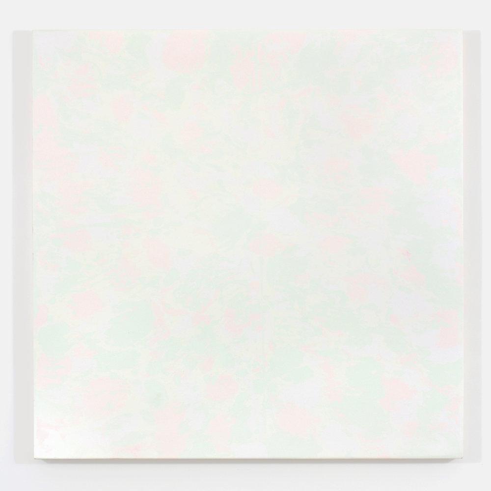 """Pierre Julien,  Gathering of the Clouds 2 , 2015, plâtre et acrylique sur panneau de bois,48"""" x 48"""" (122 x 122 cm)."""