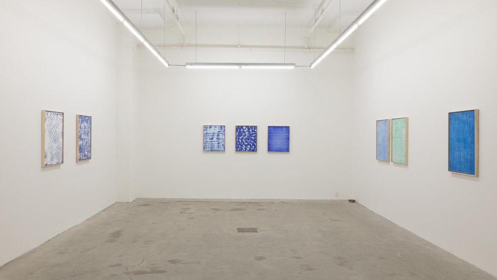 Pierre Julien,  Blue Prints , 2017, vue d'exposition.