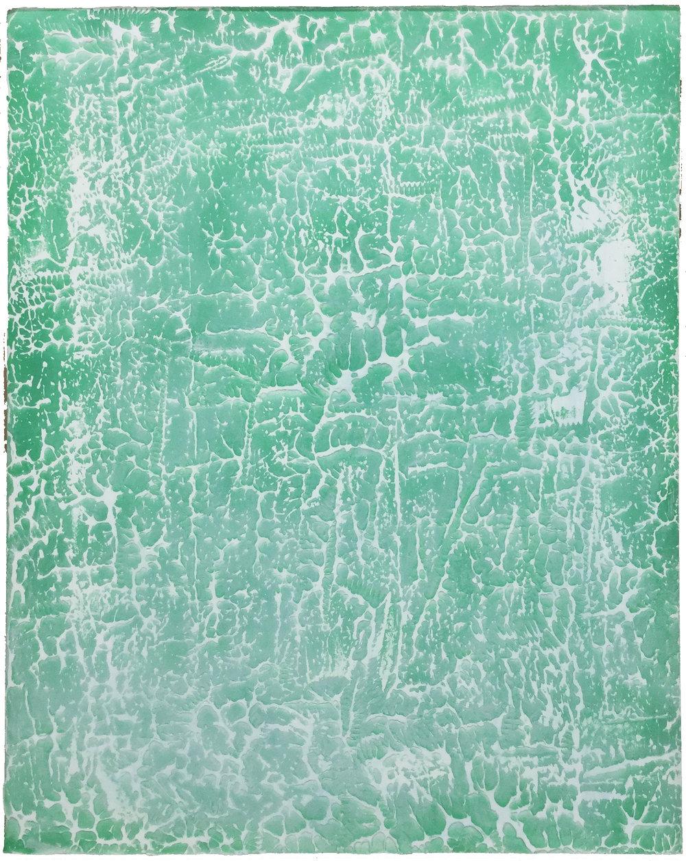 """Pierre Julien,  Ronchamp 03 , 2017, plâtre, acrylique et peinture aérosol sur gypse, 30"""" x 24"""" (76 x 61 cm)."""