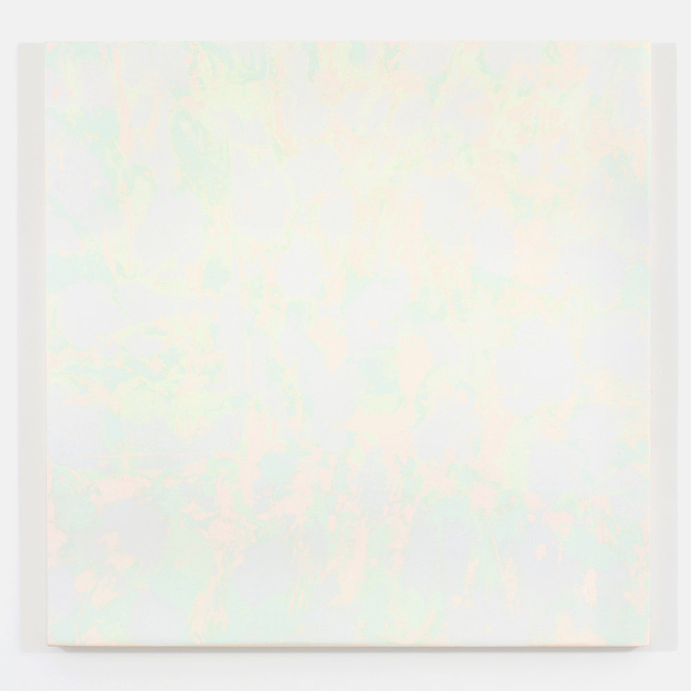 """Purple Haze / The gathering of the clouds no. 3, 2015, plâtre et acrylique sur panneau de bois, 122 X 122 cm ( 48 X 48"""")"""