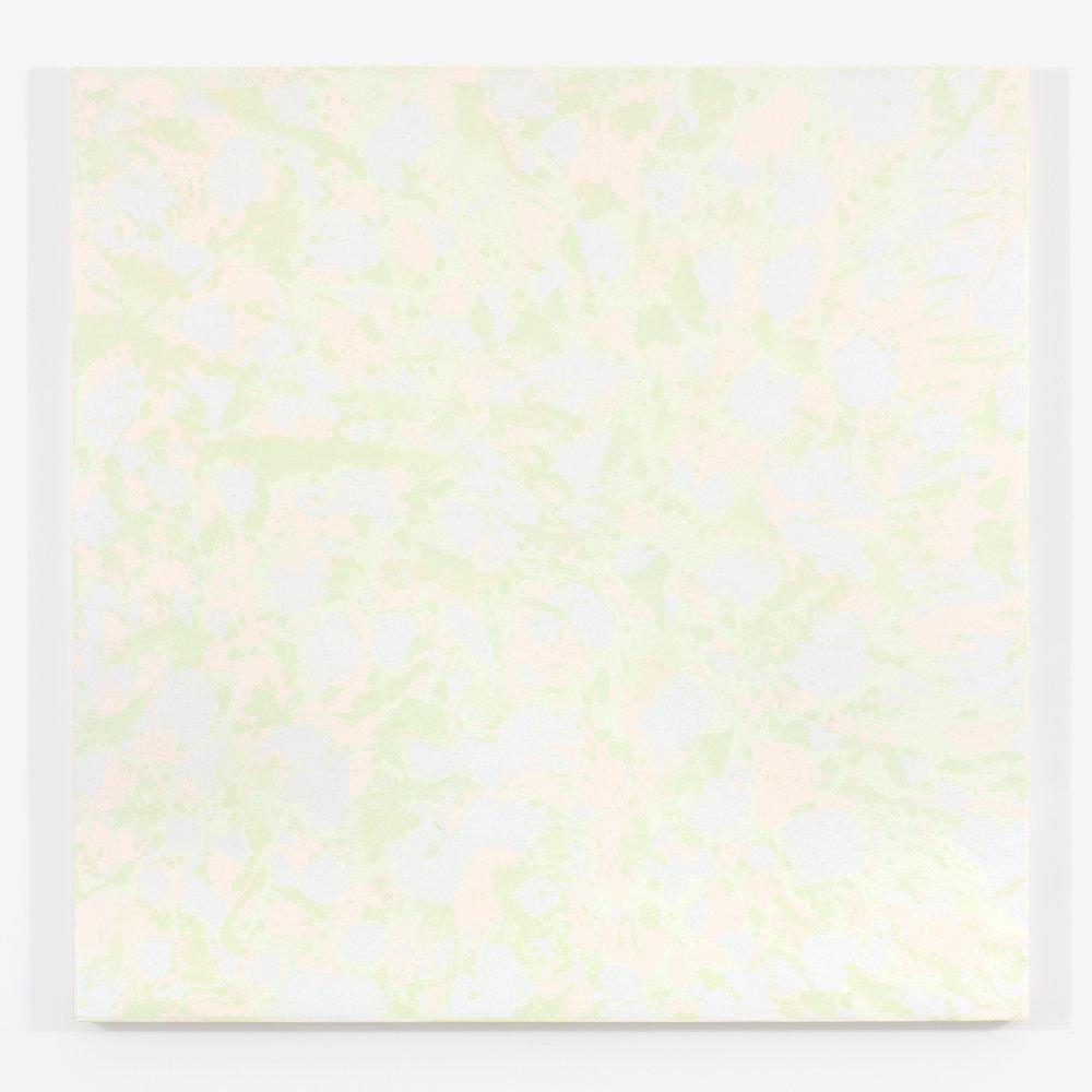 """Purple Haze / The gathering of the clouds no. 4, 2015, plâtre et acrylique sur panneau de bois, 122 X 122 cm ( 48 X 48"""")"""