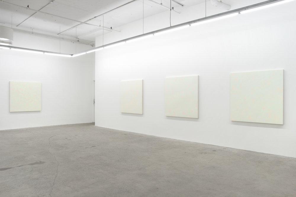 Pierre Julien,  Purple Haze , 2016, vue d'exposition, Galerie Nicolas Robert, photo : Jean-Michael Seminaro