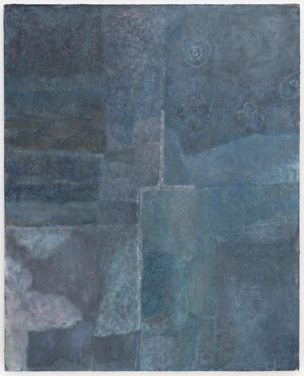 """Laurence Pilon,  Patchwork,  2018, huile sur panneau, 76 x 61 cm (30"""" x 24"""")"""