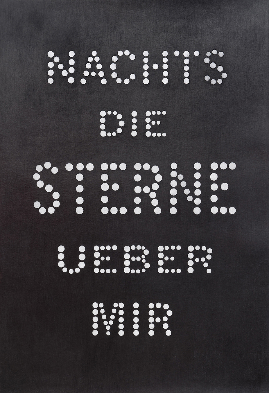 "Carl Trahan, The Sacred Canopy - Nachts dia Sterne uber mir, 2018, graphite sur papier, 111 x 77 cm (44"" x 30"")"